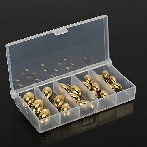 Dilwe Angeln Gewichte Platinen, 20 Stück Multi-Typ Kupfer Angeln Lead Platinen mit Carry Box für Süßwasser Salzwasser Angeln