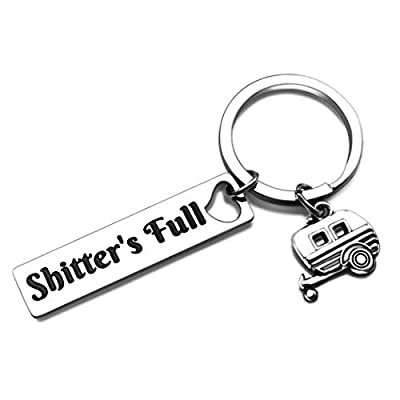 Shtter's Full Funny Keychain Gift Happy Camper RV Camping gifts Accessories for Inside Women Men for Jeep Owner Accessories Enthusiasts Wave Key Ring Trailer Christmas Vacation Jewelry from Isiyu