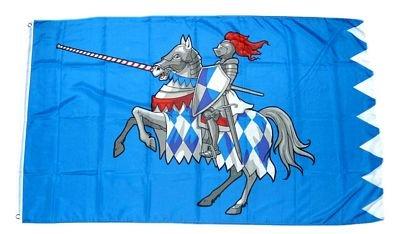 Fahne Ritter mit Pferd blau NEU 90 x 150 cm Flaggen
