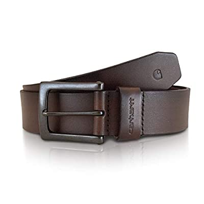 Carhartt Men's Big and Tall Signature Casual Belt, Anvil Brown, 46