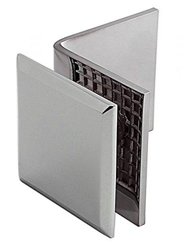 Winkelverbinder Fixum S, Glas-Wand, 90°, Chrom