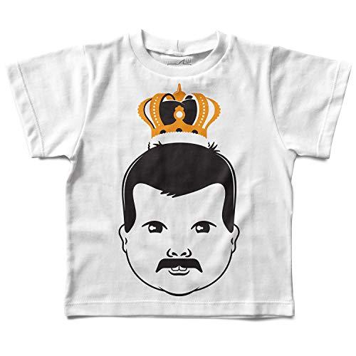 Camiseta Baby Freddie Mercury Baby, Let's Rock Baby, Branco, 6 anos