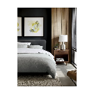 Lindstrom Grey Full/Queen Duvet Cover + Reviews | Crate and Barrel