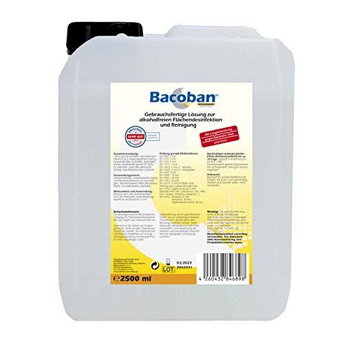 BACOBAN® Langzeit Flächendesinfektion, wasserbasiert - Fertiglösung, 2,5 Liter Desinfektion gegen Viren und Baterien