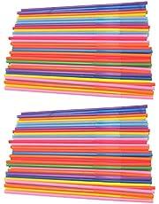 Cabilock Rietjes Plastic Kleur Modellering Rietjes Buigen Verlenging Rietjes 450 Stuks