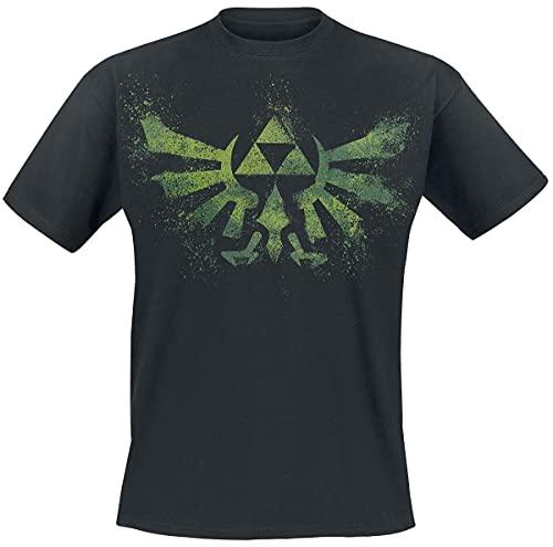 Nintendo The Legend of Zelda Wingcrest - Triforce Männer T-Shirt schwarz L