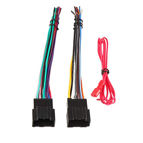 RED WOLF Compatible with 2006-2017 Chevy GMC Express Savana Buick Factory Radio Stereo Replacement Wire Harness Updated