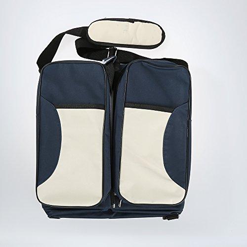Sac à Langer 3en1 Bébé Maman Berceau Lit Portable Couffin Table à langer - 3 style et multi couleurs en option (Bleu foncé - Sac 3en1)