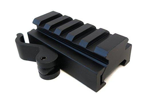 BigTron 5 Slot 0.5x2.5 Inch Tactical Low Profile QD Riser - Quick Release Picatinny Schienen-Riser passt 20mm Rails für Rot-Laser, Scope und Optik