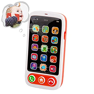 Mini Tudou Baby Smart Phone,Toy Cell Phone with Lights & Music & Game,Touch and Learn Educational Toys,Best Gift for Infants,Toddlers, Boys and Girls Ages 1 2 3 from Mini Tudou