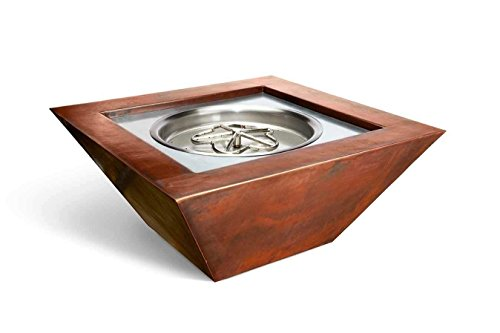 Best Review Of HPC Fire Hearth Products Controls Sierra Copper Fire Pit Bowl (SIER36-EI-NG-24VAC), E...