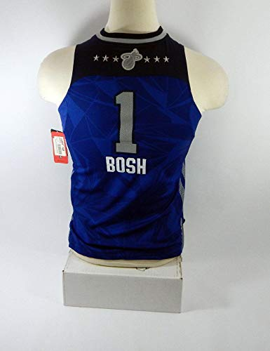 Child Miami Heat Chris Bosh #1 Replica Blue All Star Swingman Jersey M HEAT0038 - Autographed NBA Jerseys