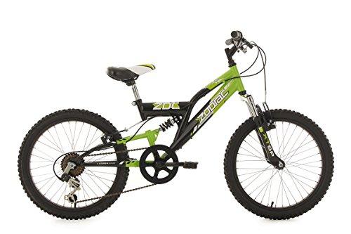 KS Cycling Kinderfahrrad Mountainbike Fully 20'' Zodiac grün-schwarz RH31cm