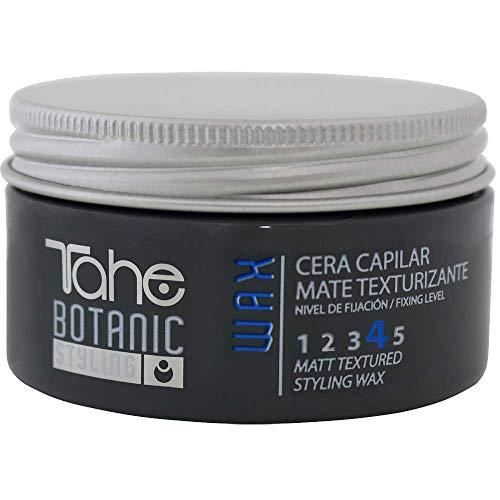 Tahe Botanic Styling Cera Capilar Mate Texturizante Wax Efecto Texturizador Antiencrespamiento, Fijación 4, 100 ml