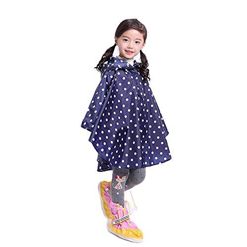 Dinglihuaqu Kinder-regenponcho Raincoat leuke studeerkinderen poncho rugzak kinderen Blue Raincoat tas Bit Baby X-Large