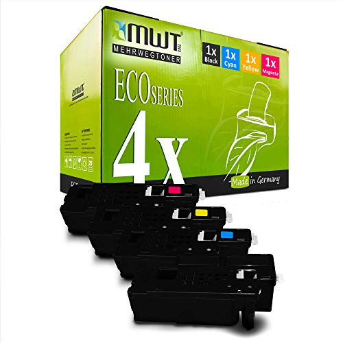 4X MWT Toner für Dell E 525 w ersetzt Schwarz Blau Rot Gelb Druckerpatronen Patronen