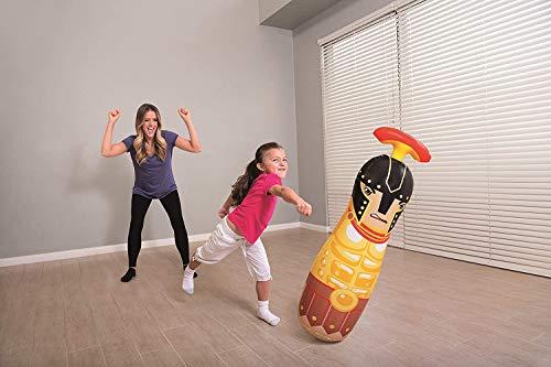 ML tentepie muñecos y Animales Hinchable tentetioso . muñeco Dinosaurio Hinchable para niños (Negro-Gladiador)