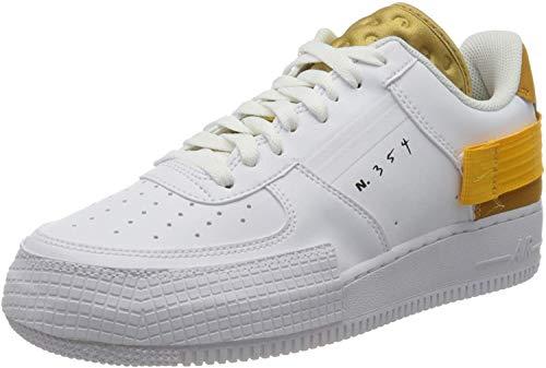 Nike Af1-Type, Zapatillas de básquetbol para Hombre, White University Gold Gold Suede, 46 EU