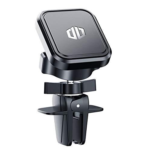 DesertWest KFZ Handyhalterung Auto Magnet Lüftung, Universal Handyhalter Auto Zubehör mit 6 Rohmagnete aus Neodym & 2 Metallplättchen, Kompatibel für iPhone Samsung Huawei LG Sony - Schwarz