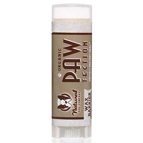 Natural Dog Company PawTection Dog Paw Balm, Protects Dog Paws from Heat, Salt, Snow, Prevents Paw Damage, Organic, All Natural Ingredients, 0.15oz Trial Stick, 1 Count, Packaging May Vary