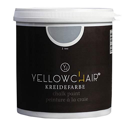 Kreidefarbe yellowchair No.2 rauchblau ÖKO für Wände und Möbel 1 Liter Shabby Chic Vintage Look