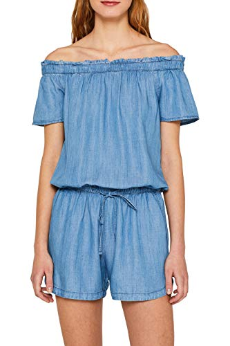 edc by ESPRIT Damen 059Cc1L001 Jumpsuit, Blau (Blue Light Wash 903), Small