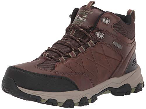 Skechers Men's SELMEN-TELAGO LACE UP Boot Hiking, Light Brown, 10.5 Medium US