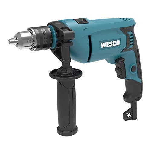 WESCO Trpano de percusión 750 W a velocidad 3000 rpm y impulsos a 48000 BPM, 2 modos taladro/martillo con mango auxiliar 360° y barra de profundidad WS3174.4