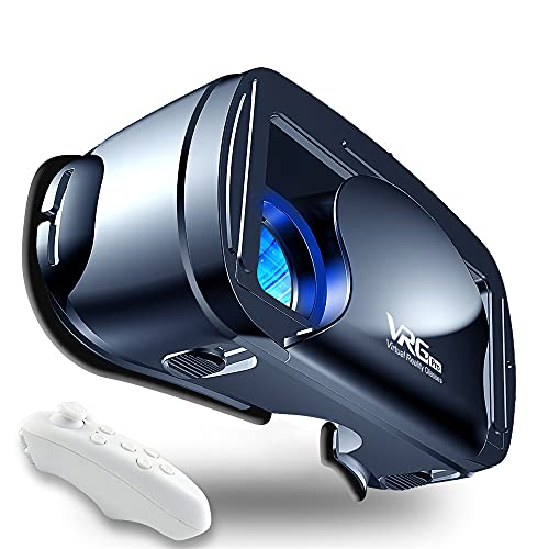 VR Headset Virtual Reality Glasses Compatible with Phone Android New Goggles for Movies Compatible 5-7 Inch Soft Comfortable Adjustable Distance
