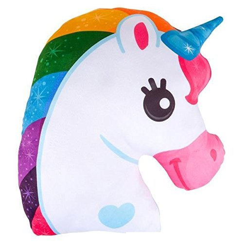 Wish Novelty - 15in Unicorn Pillow - Soft and Plush Decorative Throw - Great Gift for Kids