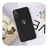 Wvnkx for iPhone 11 12 Pro Max X XS XR Xs Max Candy Color Love Heart Soft Silicone Cover for iPhone 6 S 7 8Plusの電話ケース-AC3209B-for iPhone 12Pro Max