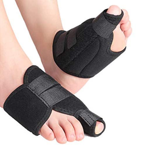 sdfkj Big Toe Splint Straightener For Auxiliary Foot Valgus Treatment Preventing Arthritis Friction Pain Relief Sports After Quickly Recover Anti Slip Adjustable 2Pairs 0122 (Size : L)