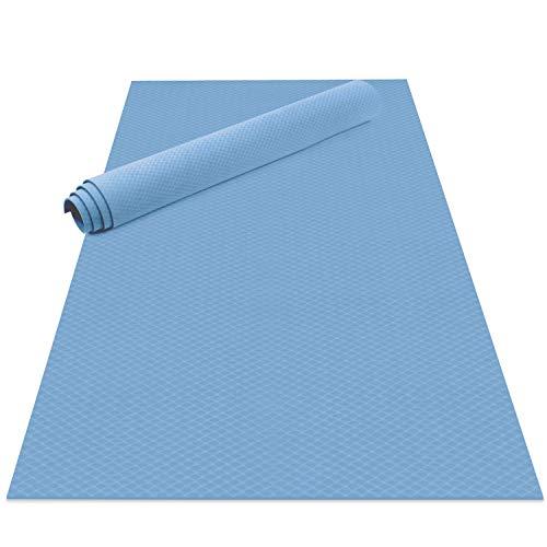 Odoland Gymnastikmatte Yogamatte 200 x 100 x 0,6 cm Große Übungsmatten Fitnessmatte rutschfest für Fitness Yoga Pilates Gymnastik Maße Hellblau