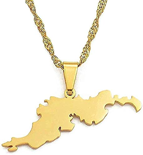 NC110 Necklace BritishIslands Tortola Map Pendants Chain Necklaces for Wen Girls Jewelry Gifts Necklace Gift