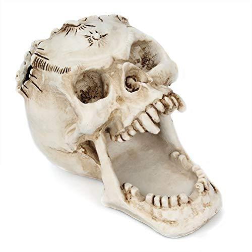 Kylewo Titular de la Pluma del cráneo, Titular de la Pluma de Halloween Titular de la Pluma del Esqueleto de la Cabeza del Horror Caja de Almacenamiento de papelería de la decoración de Halloween