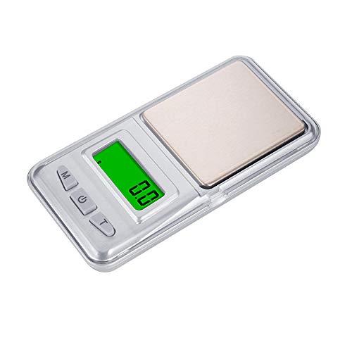 Báscula Digital De Bolsillo Báscula De Joyería De Precisión Mini Balanza Electrónica Balanza De Bolsillo Electrónica Portátil Pesaje-500G 0.01