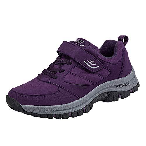 HDUFGJ Herren Damen rutschfest Trekking Wanderschuhe Outdoor Baumwollschuhe Flache Schuhe Wanderstiefel Stiefeletten Schneeschuhe Turnschuhe Sneaker