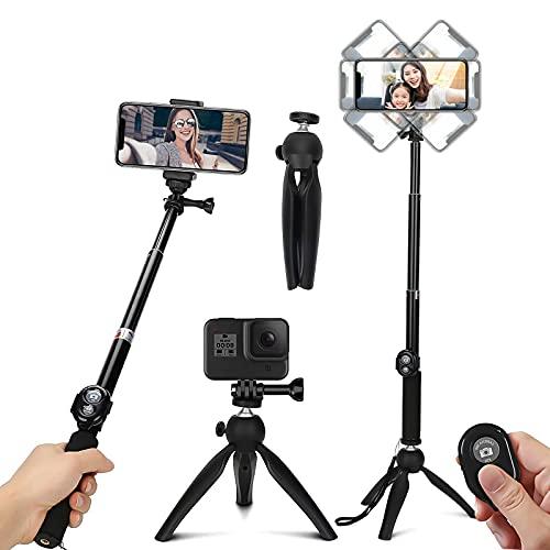 TXG Selfie Trípode Bluetooth, Palo Selfie Trípod con Control Remoto, Trípode para Celular 360°Rotación Extensible Selfie Stick...