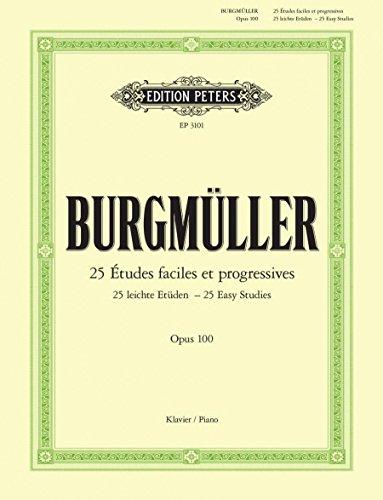 25 leichte Etüden: für Klavier op. 100 (Grüne Reihe Edition Peters)