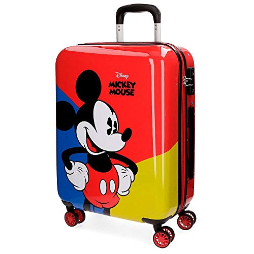 Disney Mickey Equipaje Infantil, 55 cm, 33 litros, Rojo