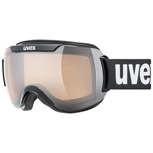 Uvex Downhill 2000 V, Maschera da Sci Unisex Adulto, Black/Silver-Clear, One Size