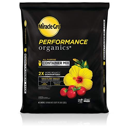 Miracle-Gro Performance Organics All Purpose Container Mix - Organic And Natural Plant Soil, Feed For Up To 3 Months, For Vegetables, Flowers, And Herbs, Use In Indoor And Outdoor Containers, 1 Cu. Ft