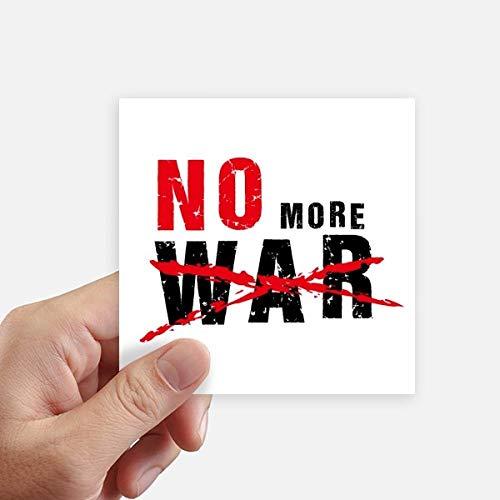 DIYthinker No More War Love Peace World Square Autocollants 10CM Mur Valise pour Ordinateur Portable Motobike Decal 8Pcs 10cm x 10cm Multicolor