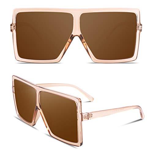 GQUEEN Occhiali da sole oversize per le donne Occhiali da sole quadrati polarizzati Alla Moda,GQZ9