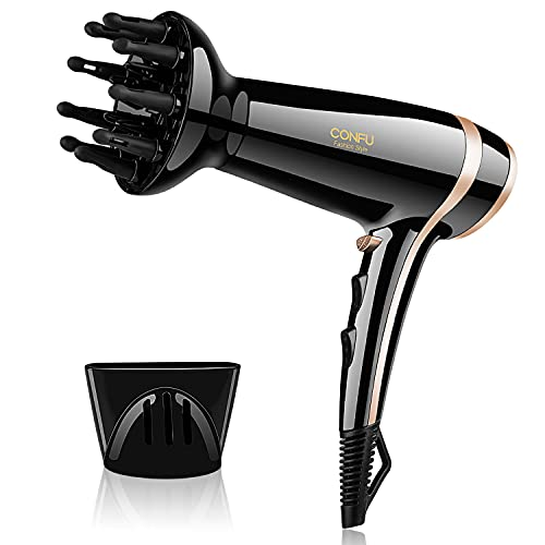 2200W Hair Dryer with Diffuser Professional Ionic Hairdryer Powerful Fast...