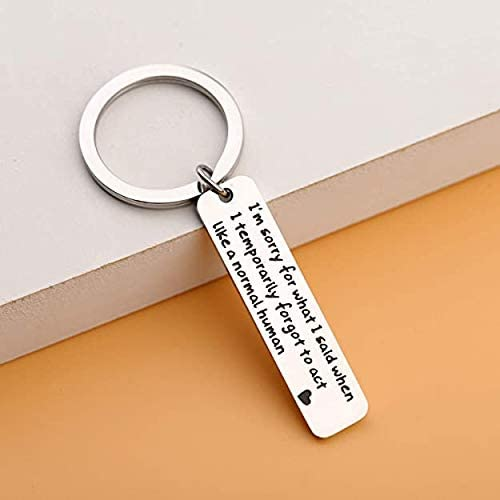 Apology Gift Sorry Jewelry Im Sorry Keychain Sorry Gift for Her Funny Novelty Idea for Apologizing
