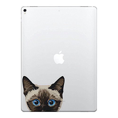 FINCIBO 5 x 5 inch Siamese Kitten Cat Removable Vinyl Decal Stickers for iPad MacBook Laptop (Or Any Flat Surface)