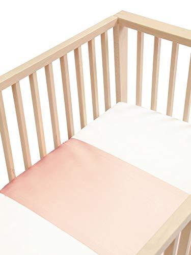 SLEEPY SILK - Baby Silk Crib Sleeve   Silk Crib Sleeve for Baby Hair Loss   Silk Baby Crib Bedding in 25 Momme Mulberry Silk   SIDS Safe Silk Crib Slip for Baby   Cherry Blossom Pink