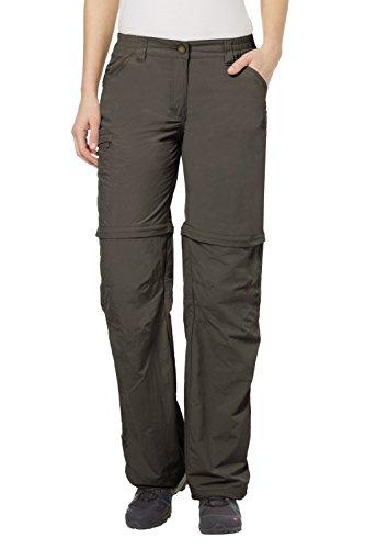 VAUDE Farley Zo Pantalon Femmes Marron Vert Taille 52