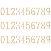 Bluecell 木製数字 0-9 未塗装木製クラフト DIYクラフトデコレーション用 高さ5cm/2インチ